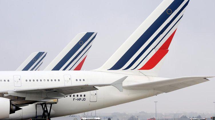 Trois syndicats de pilote d'Air France appellent à deux jours de grève, les 10 et 11 avril. (KENZO TRIBOUILLARD / AFP)