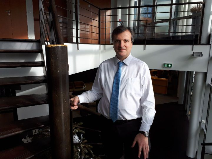 François Peaucelle, directeur de Biotrial, en janvier 2018 à Rennes. (FARIDA NOUAR / RADIO FRANCE)