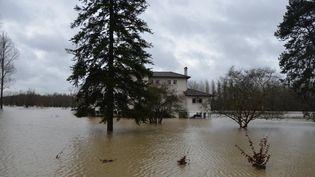 Peyrehorade (Landes), 25 janvier 2014, un village complément sous les eaux (  MAXPPP)