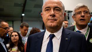 Le ministre de l'Agriculture, Didier Guillaume, au salon de l'élevage de Rennes (Ille-et-Vilaine), le 10 septembre 2019. (MARTIN BERTRAND / HANS LUCAS / AFP)