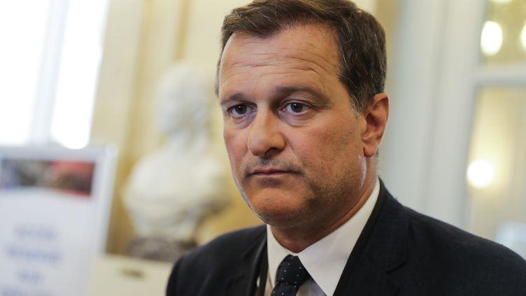 Louis Aliot, vice-président du FN, le 21 juin 2017 à l'Assemblée nationale, à Paris. (THOMAS SAMSON / AFP)