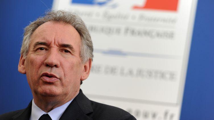 Le ministre de la Justice,François Bayrou, le 19 mai 2017. (IROZ GAIZKA / AFP)