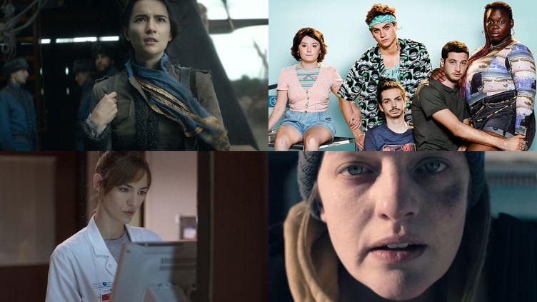 """Les séries à ne pas rater en avril : """"Shadow and Bone"""", """"Mental"""", """"Hippocrate"""", """"The Handmaid's Tale"""". (Netflix / France.tv Slash / Canal+ / OCS)"""