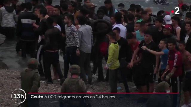Espagne : 6 000 migrants sont arrivés en 24 heures dans l'enclave de Ceuta