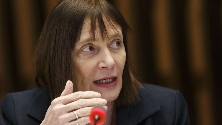 Marie-Paule Kieny, vaccinologue et présidente du comité scientifique vaccin Covid-19, le 12 février 2020. (SALVATORE DI NOLFI / KEYSTONE / MAXPPP)