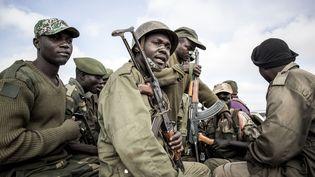 Soldats des Forces armées de la République démocratique du Congo en mai 2019, dans le Nord-Kivu. (JOHN WESSELS / AFP)