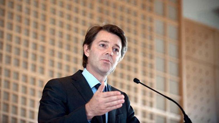 Le ministre du Budget François Baroin, le 09 juin 2010 dans une salle du ministère à Paris. (AFP - Bertrand Langlois)