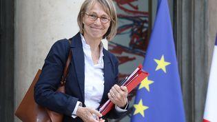 La ministre de la Culture, Françoise Nyssen, le 30 mai 2018, à sa sortie de l'Elysée (Paris). (LUDOVIC MARIN / AFP)