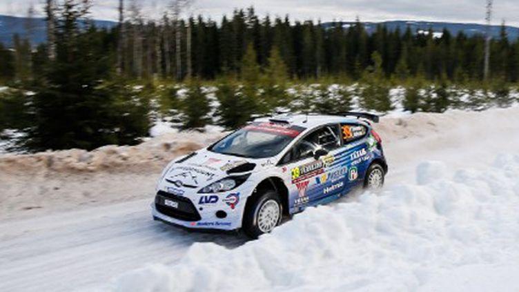 Pontus Tidemand (Ford) au rallye de Suède (BASTIEN BAUDIN / AUSTRAL)