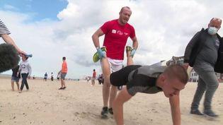 Nord : un championnat de France de brouette humaine sur la plage (FRANCE 3)