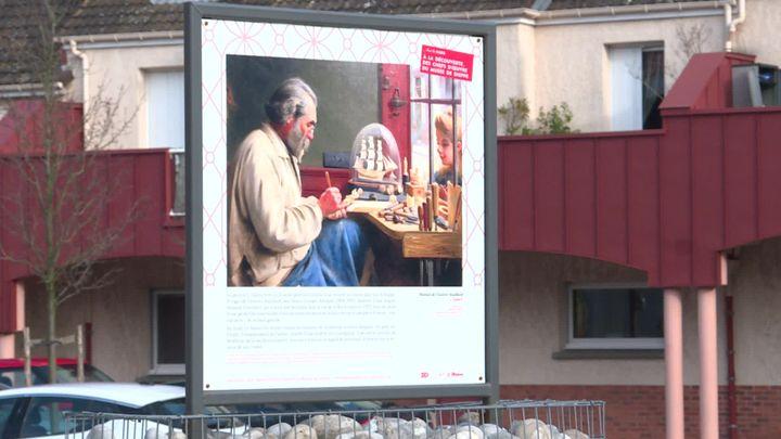 Unetrentaine de reproductions d'œuvres sont exposée dansles rues de Dieppe (France 3 Normandie)