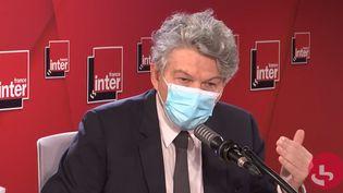 Le Commissaire européen au Marché intérieur, Thierry Breton, sur France Inter le 9 novembre 2020. (FRANCEINTER / RADIOFRANCE)