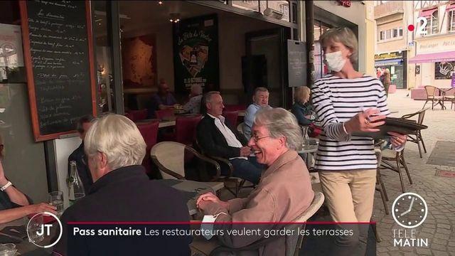 Pass sanitaire : les restaurateurs souhaitent que les terrasses ne soient pas concernées par l'obligation