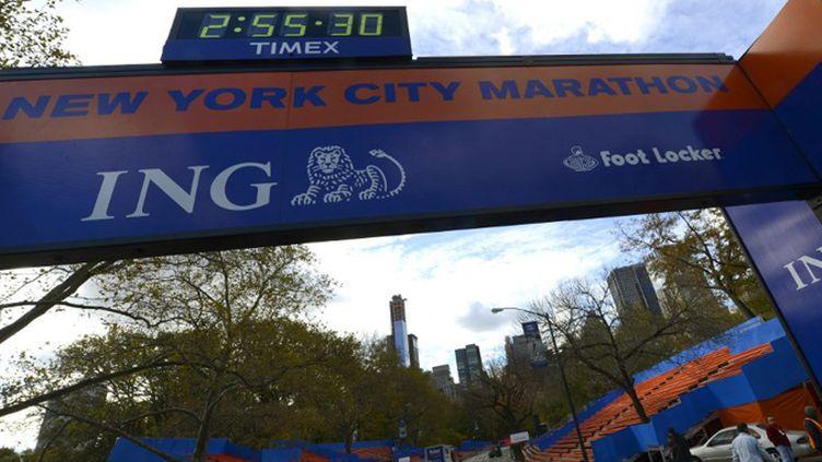 La ligne d'arrivée du 43e marathon de New York (TIMOTHY A. CLARY / AFP)