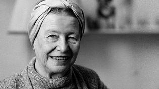 Simone de Beauvoir en 1983  (MICHELE BANCILHON / AFP)
