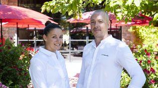 Justine Viano et Stephan Paroche, les deux chefs du Village Castigno, à Assignan dans l'Hérault. (VILLAGE CASTIGNO)