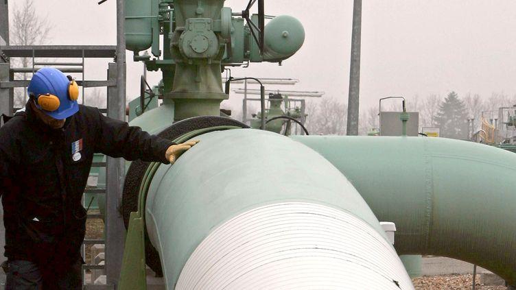 Un gazoduc dans la Sarthe (illustration). (JEAN-FRANCOIS MONIER / AFP)