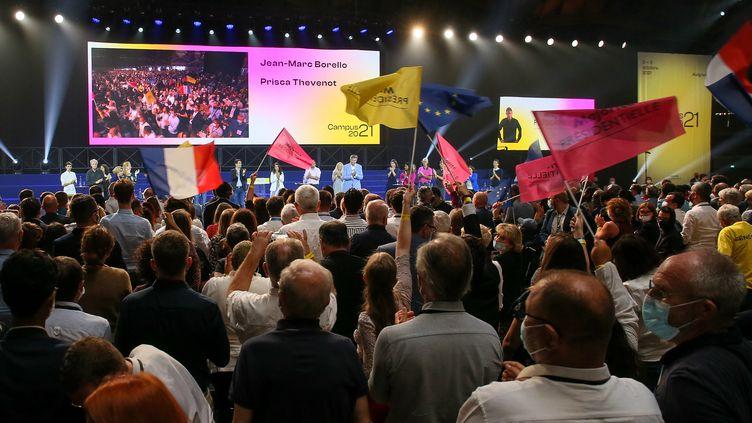 Le campus de la majorité présidentielle s'est tenu le week-end du 2 et 3 octobre à Avignon (Vaucluse). (NICOLAS GUYONNET / HANS LUCAS / AFP)