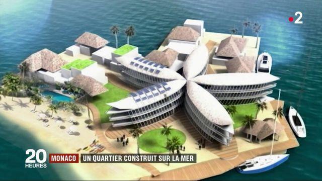 Monaco : un quartier construit sur la mer