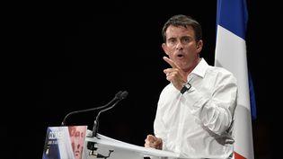Manuel Valls en meeting à Colomiers le 29 août 2016 (PASCAL PAVANI / AFP)
