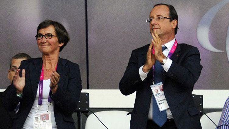 La ministre des sports Valérie Fourneyron et le Président de la République François Hollande
