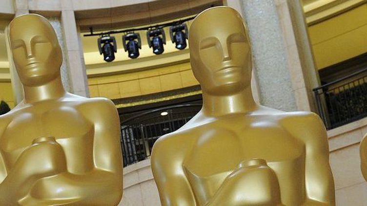 """Les statuettes des """"Oscars""""  (MARK RALSTON/AFP)"""