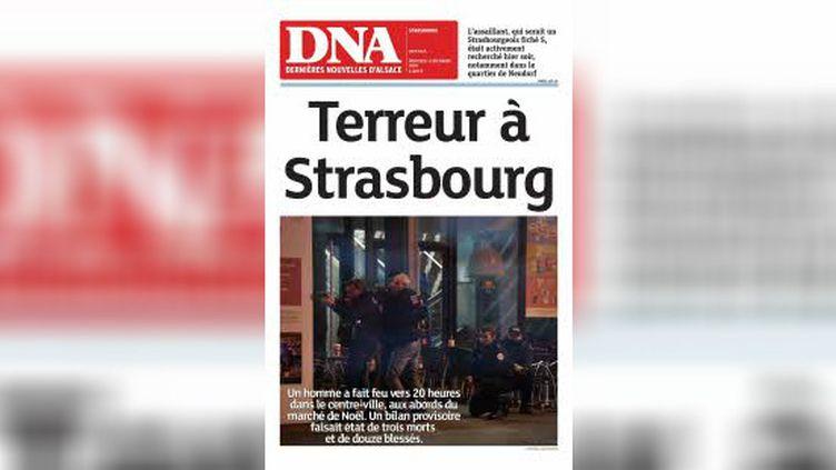 """L'édition du 12 décembre 2018 des """"Dernières Nouvelles d'Alsace"""". (DNA)"""