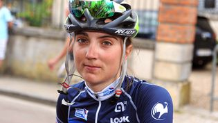 La cycliste Marion Sicot durant laRoute de France féminine, le 9 août 2016. (ERIC MALOT / MAXPPP)