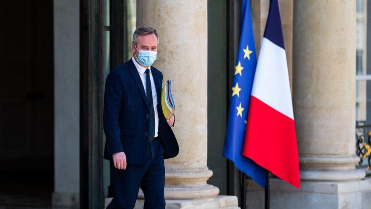 Jean-Baptiste Lemoyne, secretaire d'Etat chargé de la Francophonie, à Paris le 9 juin 2021. (XOSE BOUZAS / HANS LUCAS / AFP)