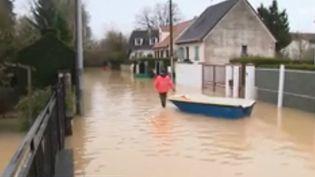 France 3 s'est rendue à Esbly (Seine-et-Marne) ce jeudi 25 janvier, dans un quartier victime des inondations. (FRANCE 3)