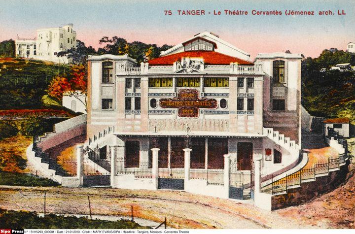 Le théâtre Cervantès, du temps de sa splendeur, dans les années 20. Il fut construit entre 1911 et 1913 par l'architecte espagnolDiego Jiménez Armstrong. (MARY EVANS/SIPA)
