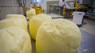 Des bottes de beurre de grande qualité à Echiré (Deux-Sèvres), le 17 mars 2015. (GUILLAUME SOUVANT / AFP)