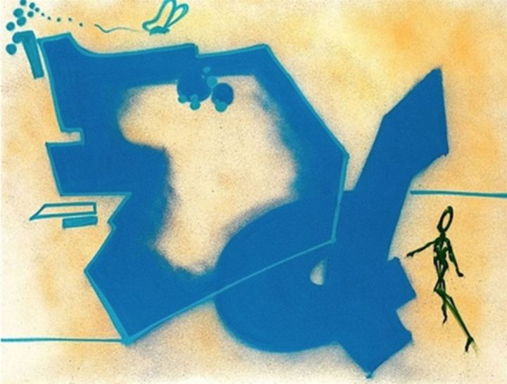 "Dondi ""Sans titre, spraypaint on canvas, 130 x170 cm, collection particulière"".  (Courtesy of Ghost Galerie)"