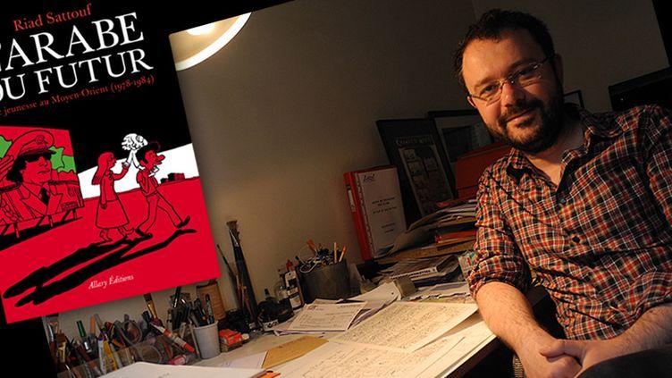 Riad Sattouf à sa table de travail  (Laurence Houot / Culturebox)