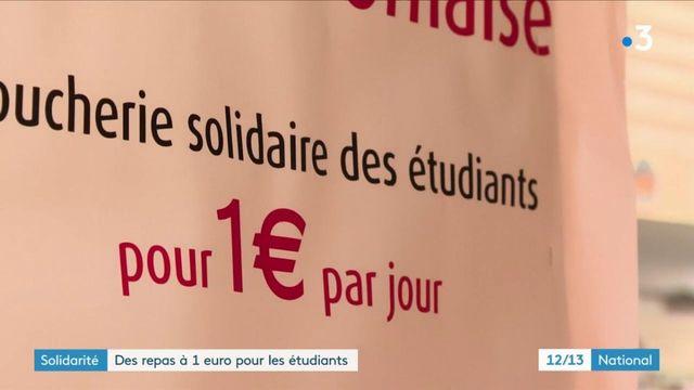 Solidarité : un boucher propose des repas à 1 euro pour les étudiants