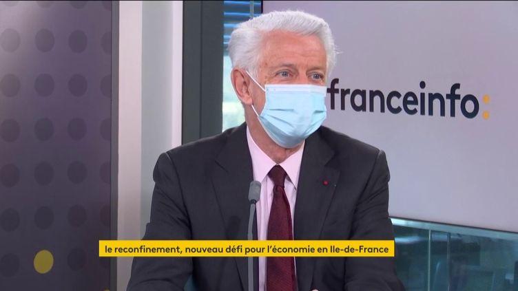 Didier Kling, président de la Chambre de commerce et d'industrie Paris Île-de-France, était l'invité de franceinfo le 19 mars 2021. (FRANCEINFO / RADIO FRANCE)