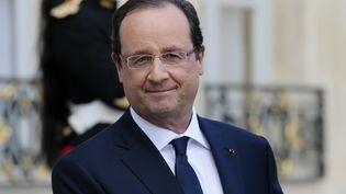François Hollande, le 21 octobre 2013 à l'Elysée. (JACQUES DEMARTHON / AFP)