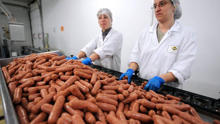 En Afrique du Sud, une étude a fait état de viande d'âne, de chèvre et de buffle d'eau mélangée à d'autres viandes dans les saucisses, les steaks pour hamburgers et la charcuterie, le 26 février 2013. (JEAN-FRANCOIS MONIER / AFP)