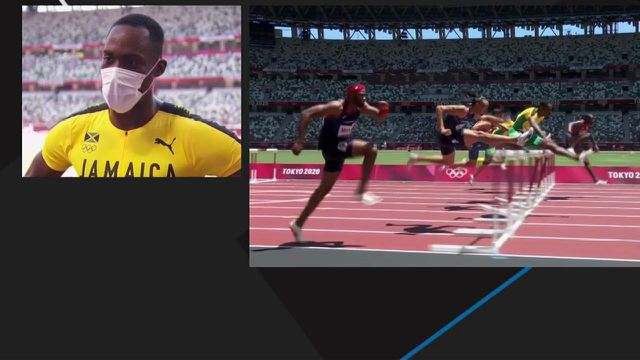 Hansle Parchment revient sur son titre olympique sur le 110 m haies où il a devancé le favori Grant Holloway.