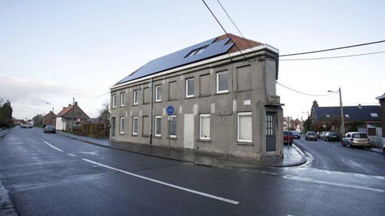 La maison que Gérard Depardieu a achetée à Néchin, en Belgique  (BAZIZ CHIBANE/SIPA)