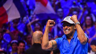 Le capitaine de l'équipe de France de tennis, Yannick Noah, le 25 novembre 2017 à Lille. (PHILIPPE HUGUEN / AFP)
