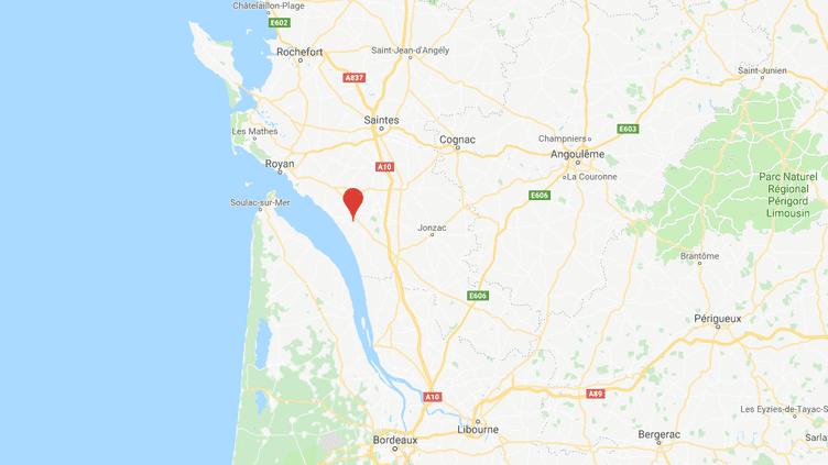 La commune de Floirac est située au sud-ouest de la Charente-Maritime. (CAPTURE ECRAN GOOGLE MAPS)