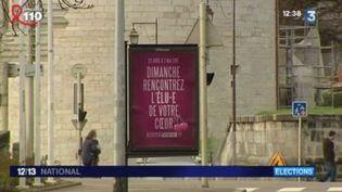 Pour trouver des Assesseurs, la ville de Besançon (Doubs) n'a pas hésité à sortir les grands moyens. Retour sur une publicité pas comme les autres... (FRANCE 3)