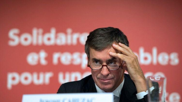 Jérôme Cahuzac, le 28 septembre 2012 au ministère de l'Economie, à Bercy (Paris). (BERTRAND LANGLOIS / AFP)