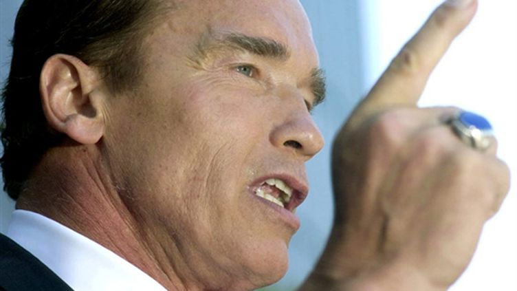 Arnold Schwarzenegger alors gouverneur de Californie. (GETTY IMAGES NORTH AMERICA/DAVID MCNEW)