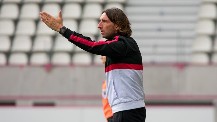 Frédéric Biancalani, l'entraîneur de l'En avant Guingamp. (ANTOINE MASSINON / A2M SPORT CONSULTING)