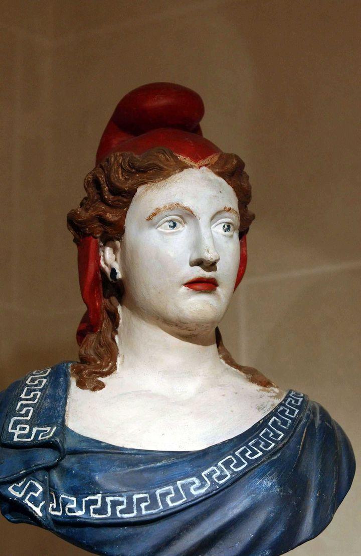 Buste peint de Marianne (anonyme, non daté)  (WITT/SIPA)