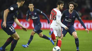 Le dernier duel entre le PSG et Monaco, le 29 janvier 2017 à Paris, s'était soldé par un match nul 1-1. (FRANCK FIFE / AFP)