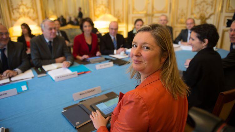 Carole Couvert, présidente de la CFE-CGC à Matignon, le 25 novembre 2013. (LCHAM / SIPA)