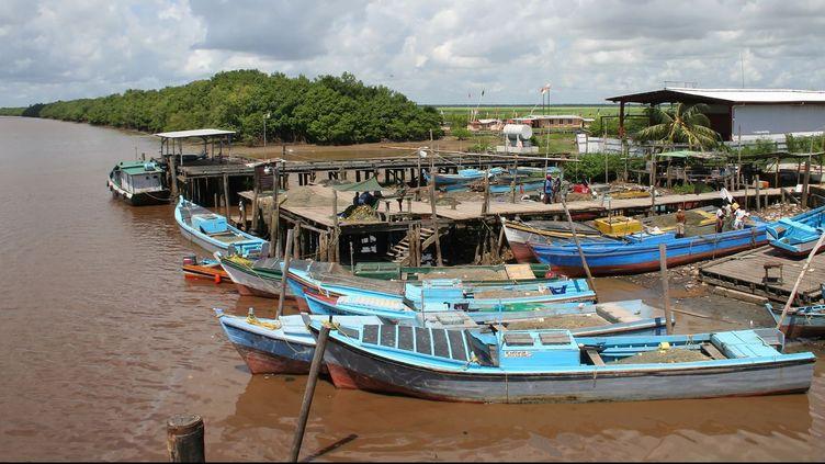 Un port de la rivière Berbice, au Guyana. Un grand nombre de suicide se concentrent le long de ce cours d'eau qui sépare le Guyana du Suriname. (Commons)